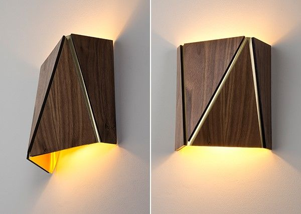 Cerno Calix Sconce wood finish represented by PG in the