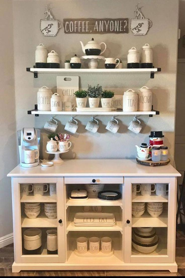 Cute Coffee Station Ideas - Searching for coffee bar ideas? By picking a distinc... Cute Coff... #coffeebarideas