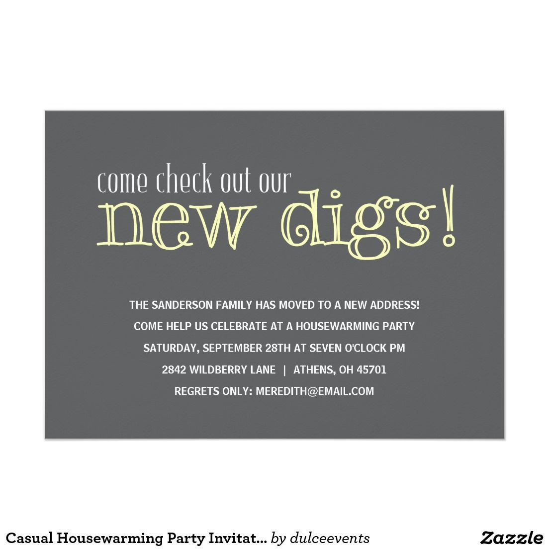 Create Easy Housewarming Party Invitation Wording Templates ...