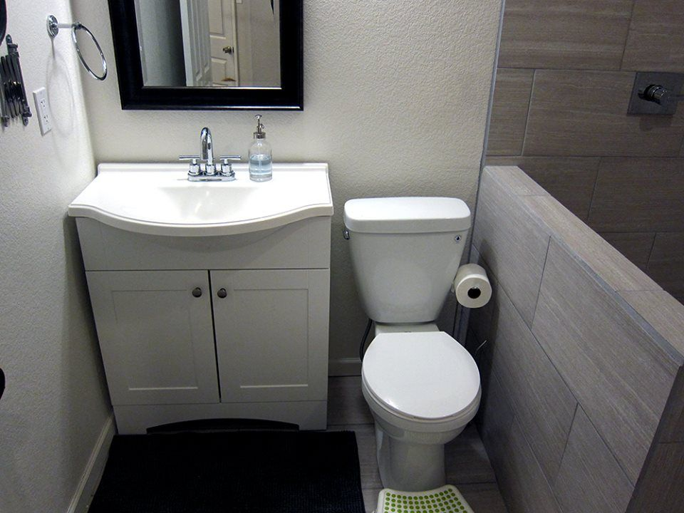 basement bathroom ideas from a diy basement finish. modern gray
