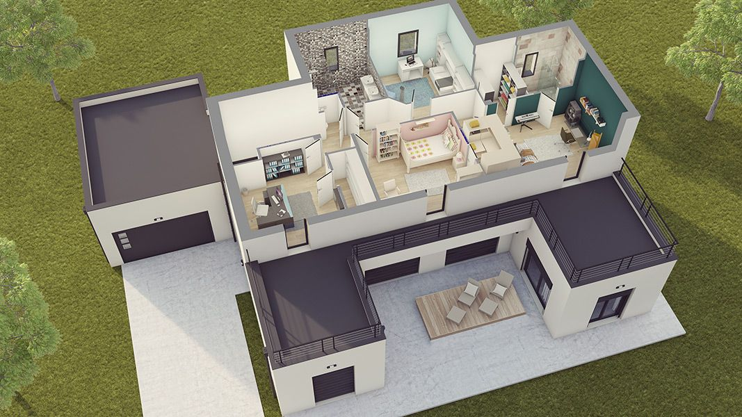Plan D Interieur Maison Moderne House Plan In 2019 House