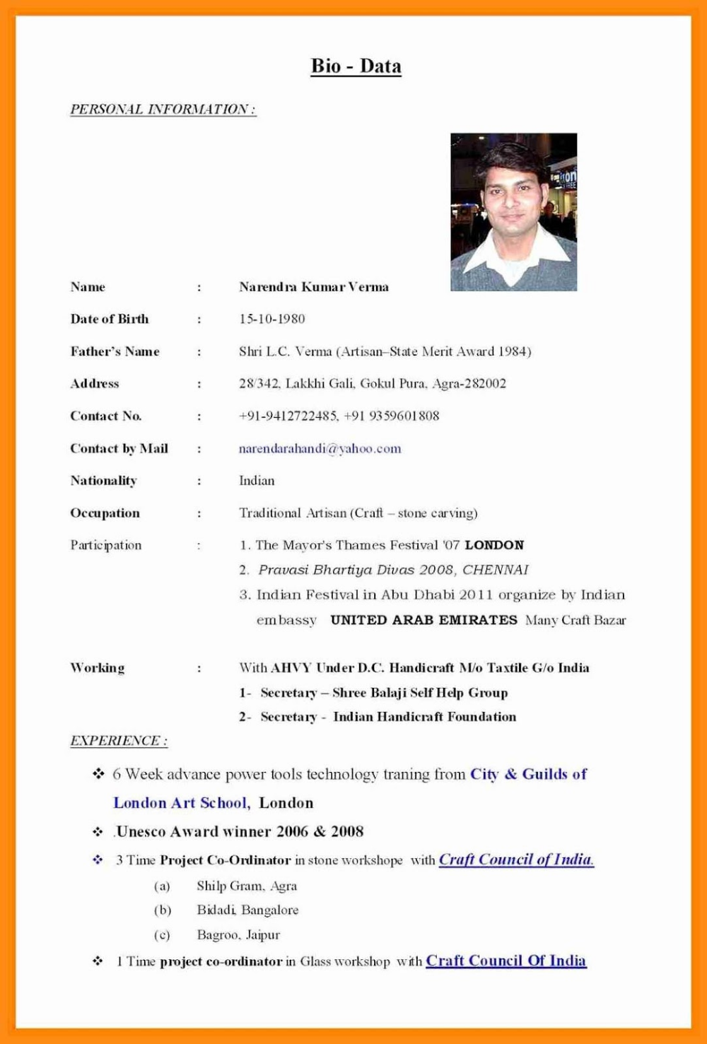 Marriage Biodata Format In Word For Boy Marriage Biodata Format In Word Bio Data For Marriage Biodata Format Marriage Biodata Format