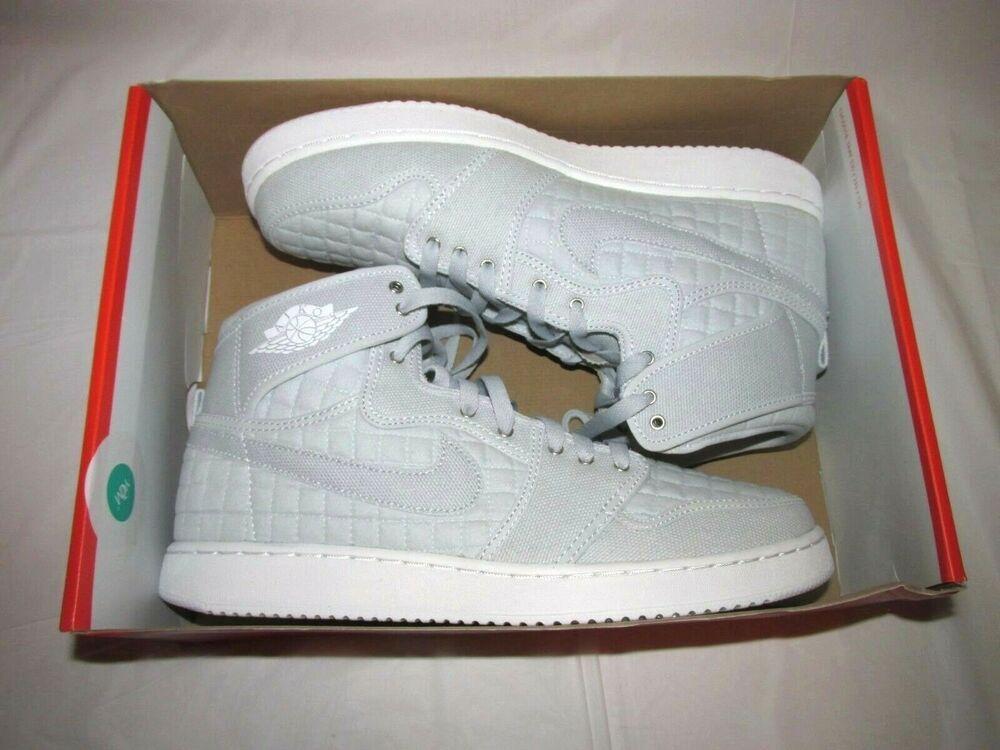 62c057e01ce954 Jordan AJ1 KO High OG Shoes Mens 10.5 Pure Platinum White  Jordan   BasketballShoes