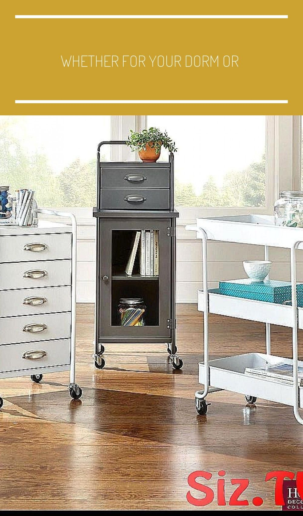Whether for your dorm or apartment a mobile cart l room organization cart room organization list