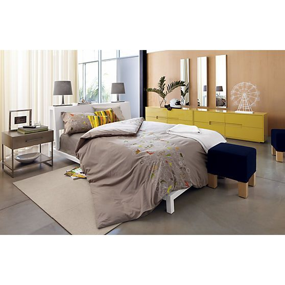 Best Alpine White Bed In Bedroom Furniture Cb2 With Images 400 x 300