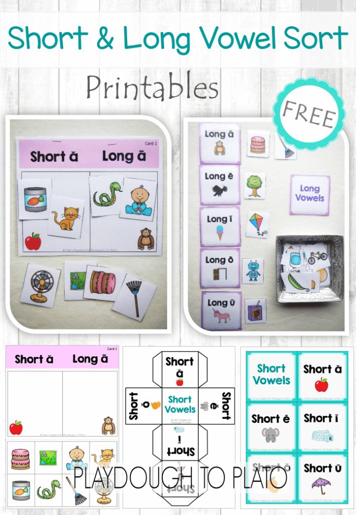Free Short Vowel and Long Vowel Sort | IRT Resources | Pinterest