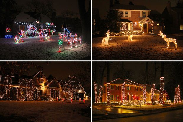 Sauganash homes are known for going all out on Christmas decorations. - Sauganash Homes Are Known For Going All Out On Christmas Decorations