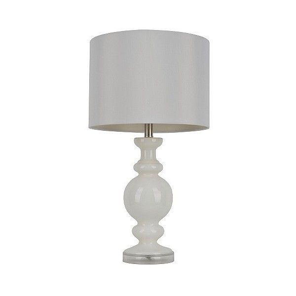 Glass Base Table Lamps Jhunt Milk Glass Table Lamp $45 ❤ Liked On Polyvore Featuring