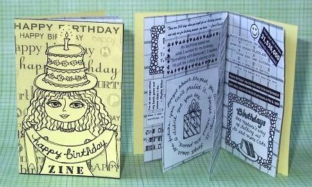 Birthday Mini Zine Com Imagens