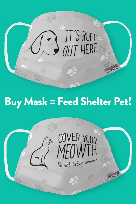 Dog Face Mask Cuddle Clones In 2020 Funny Face Mask Dog Face Mask For Kids