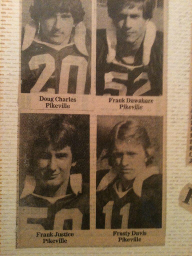 1978 AllArea Team Panthers football, High school