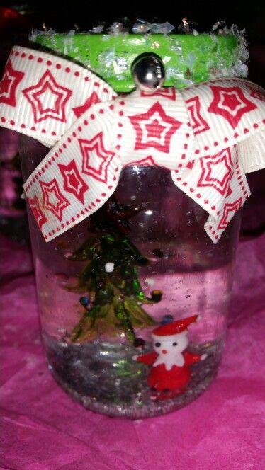 Home made snow globe / jars