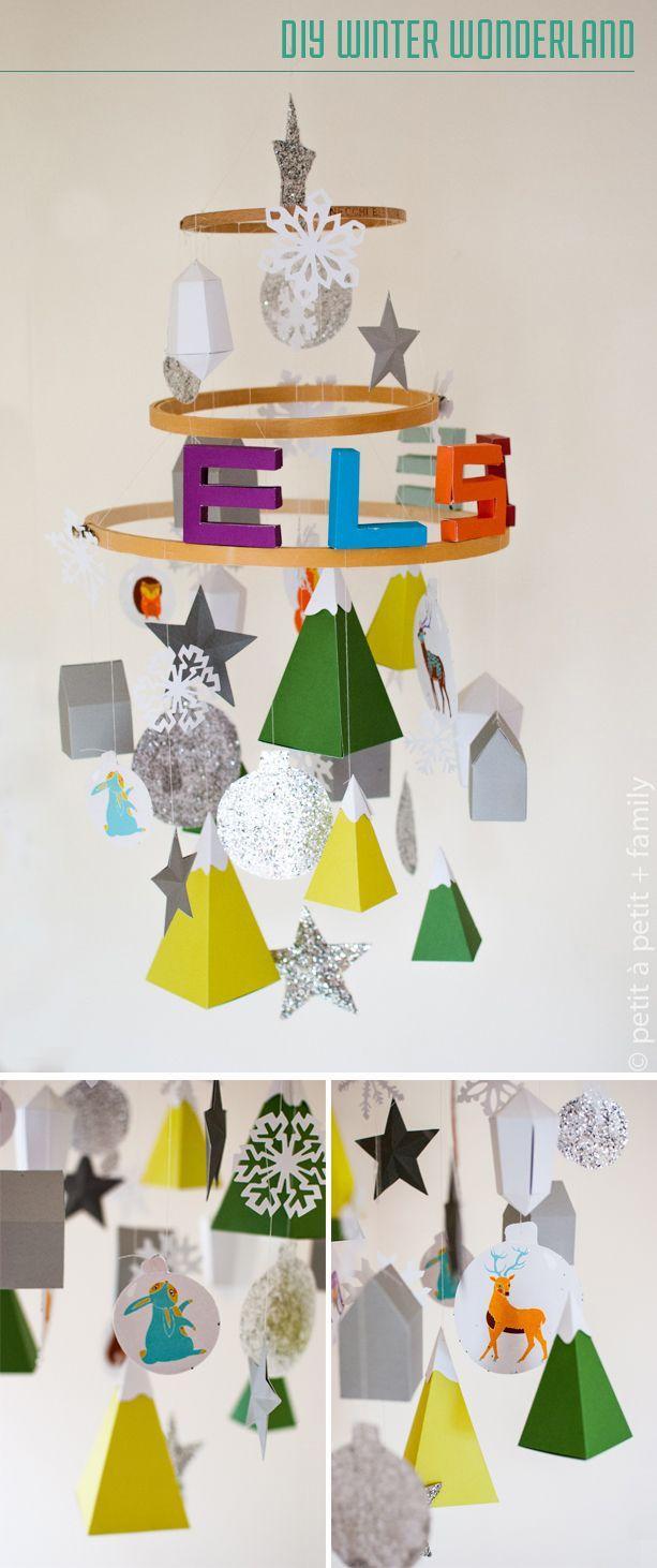 diy winter wonderland mobile advent calendar made with. Black Bedroom Furniture Sets. Home Design Ideas