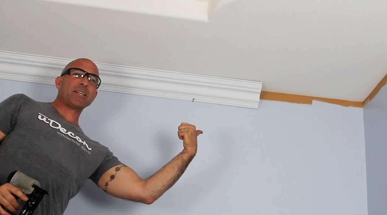 How to cut base molding in place - How To Install Crown Molding Great Resource For Measuring And Installing Way More Complicated