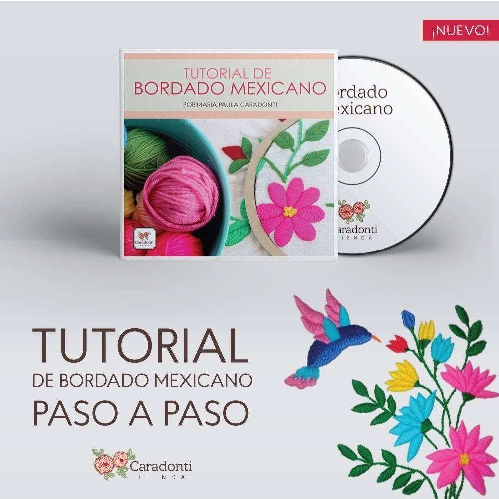 TUTORIAL Bordado Mexicano - On line - | bordados | Pinterest ...