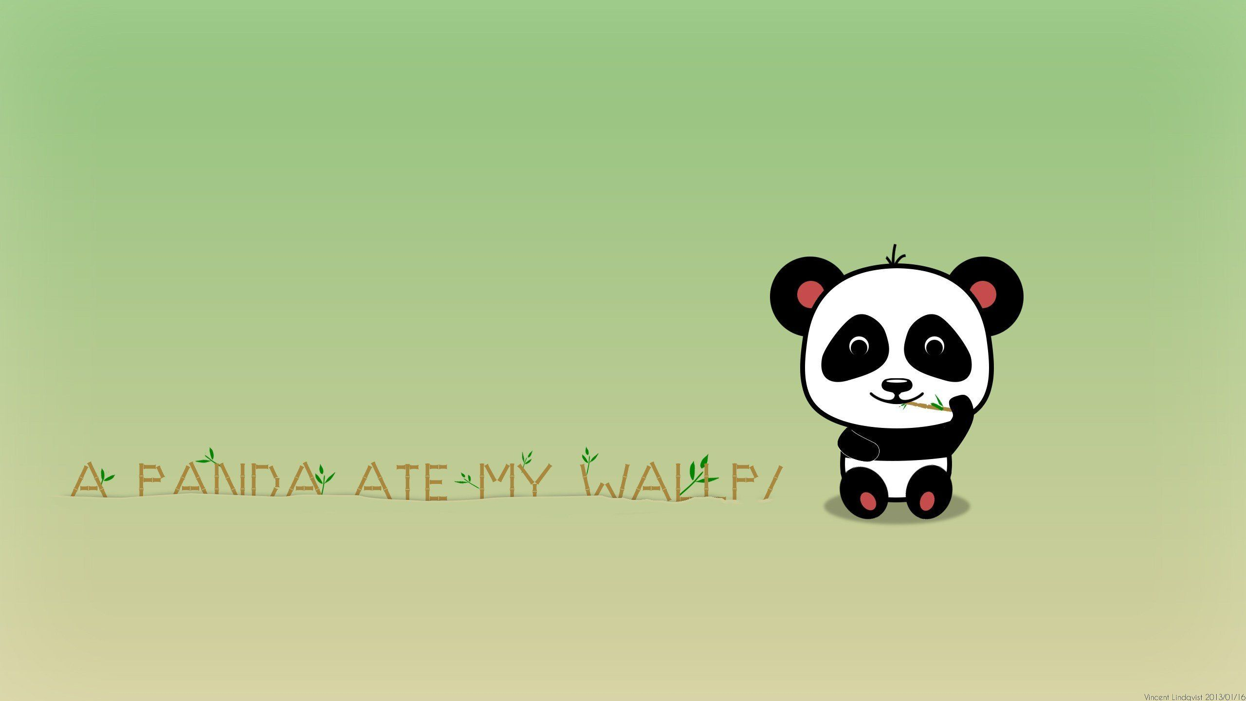 Cartoon Panda Wallpaper - WallpaperSafari