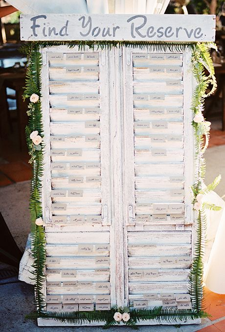 Escort Card and Seating Chart Display Ideas Pinterest Card