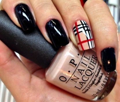 Burberry Plaid Nails Google Search