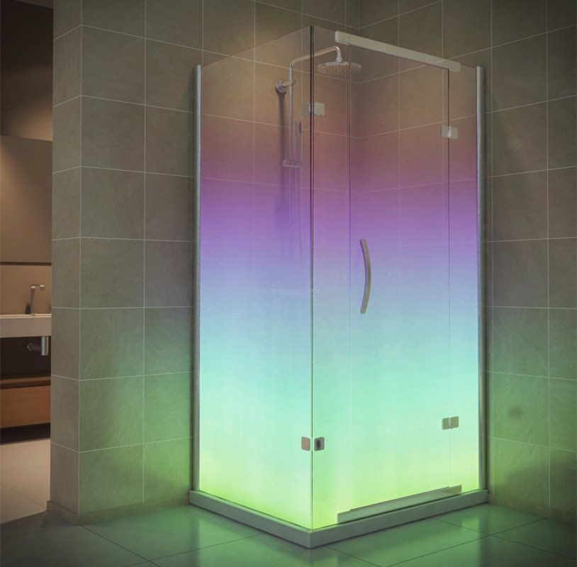 Shower Enclosure with Northern Lights #Designer #Bathrooms ...