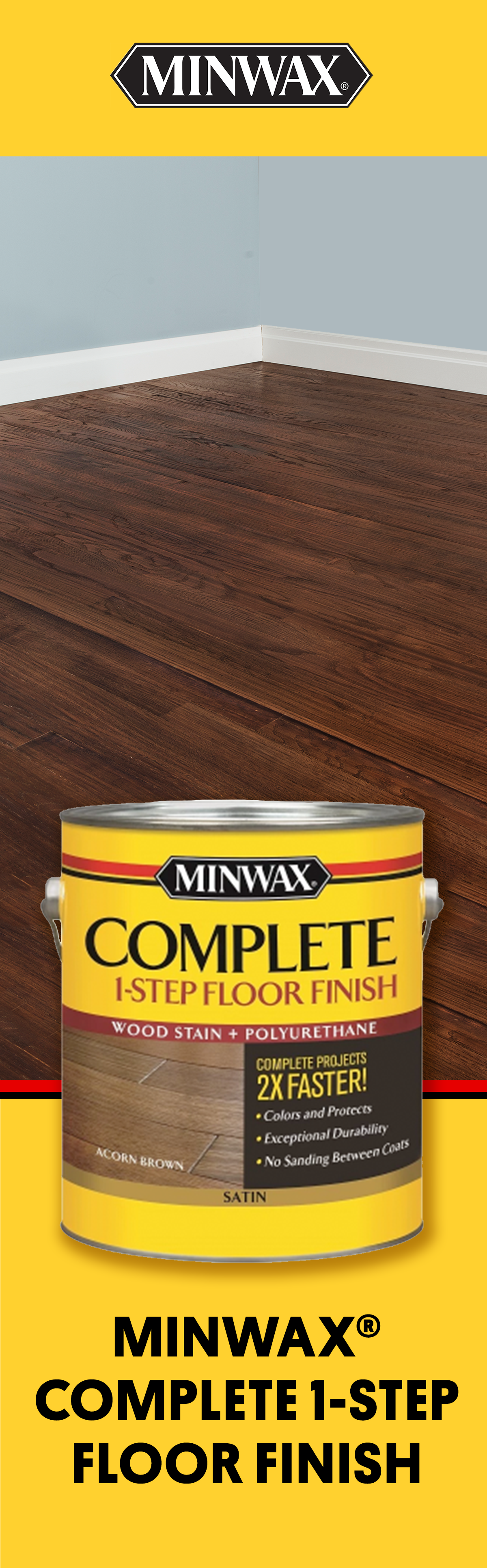 Ready To Bring Your Wood Floors To Life Apply Rich Color And Protective Finish In One Easy Step With Minwax Diy Wood Floors Staining Wood Floors Staining Wood