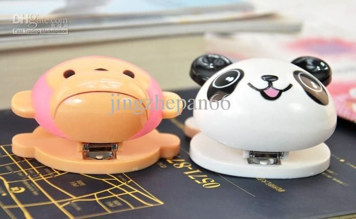 Wholesale mini stapler with staple cartoon style panda and monkey made of ABS posted by EMS, Free shipping, $3.19-3.44/Piece | DHgate