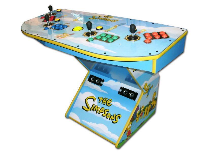 Limited Simpsons PEDESTAL Arcade 4 Player MAME (tm) HDMI