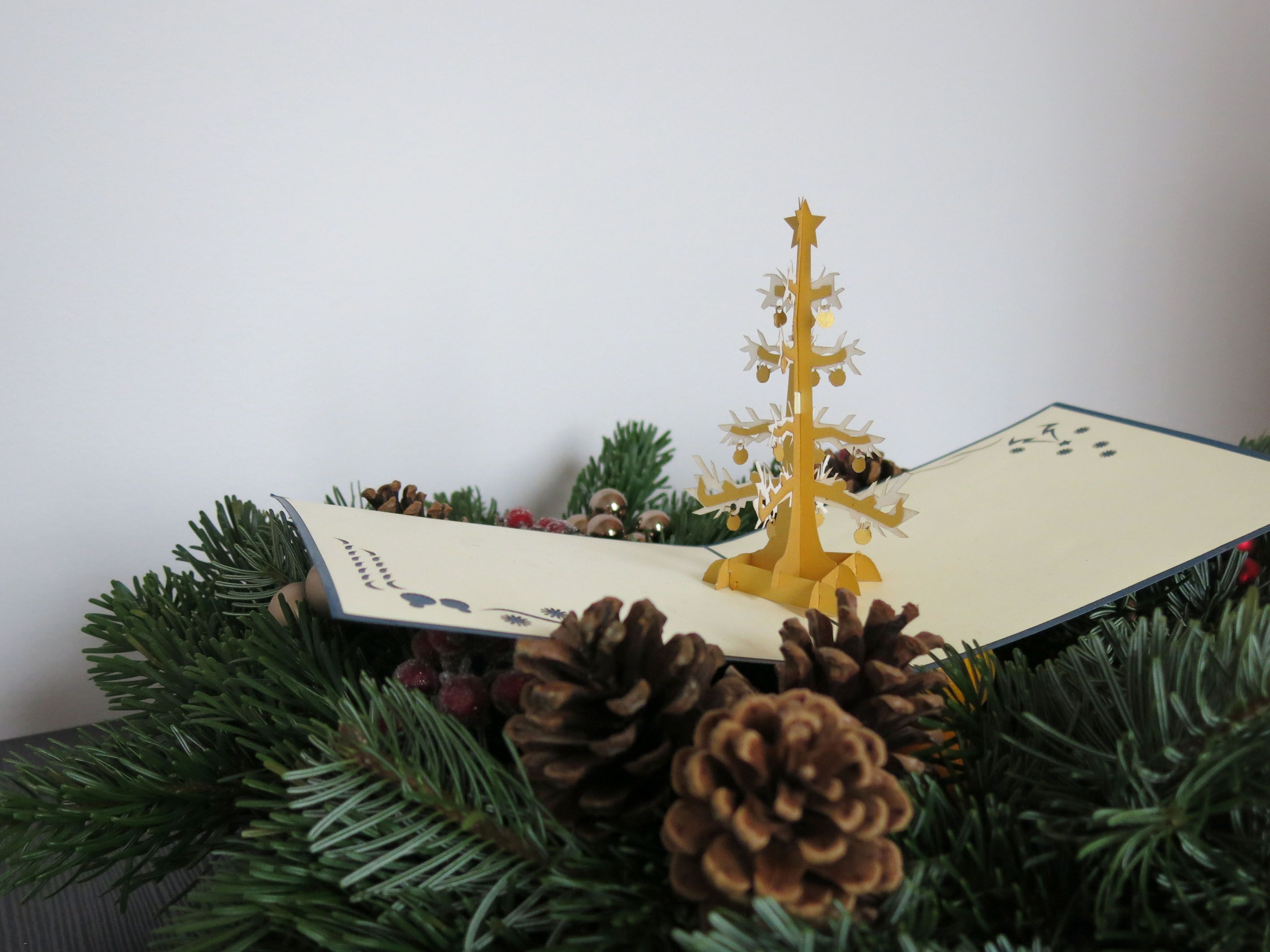 The White Christmas Tree 3D Pop Up Christmas card from Popwish make ...