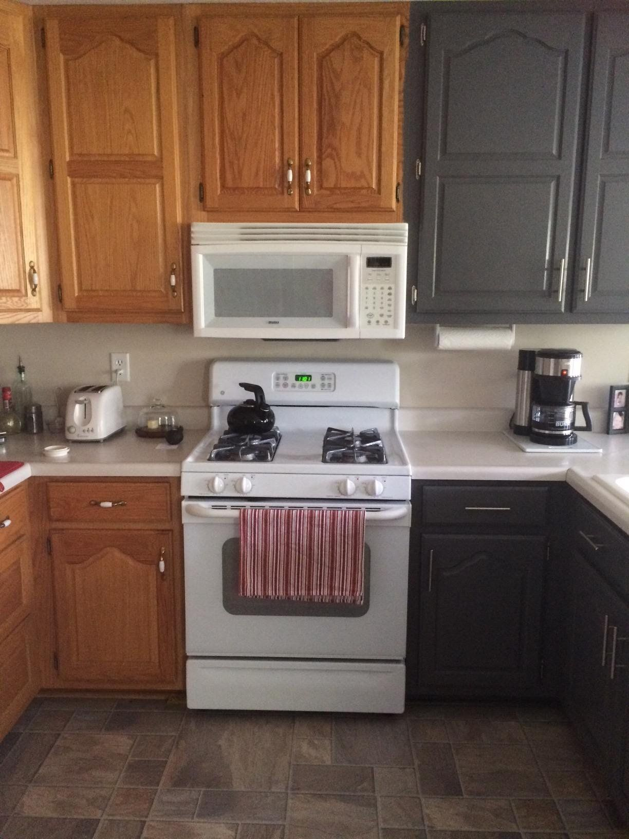 Kitchen Cabinet Makeover With General Finishes Snow White And