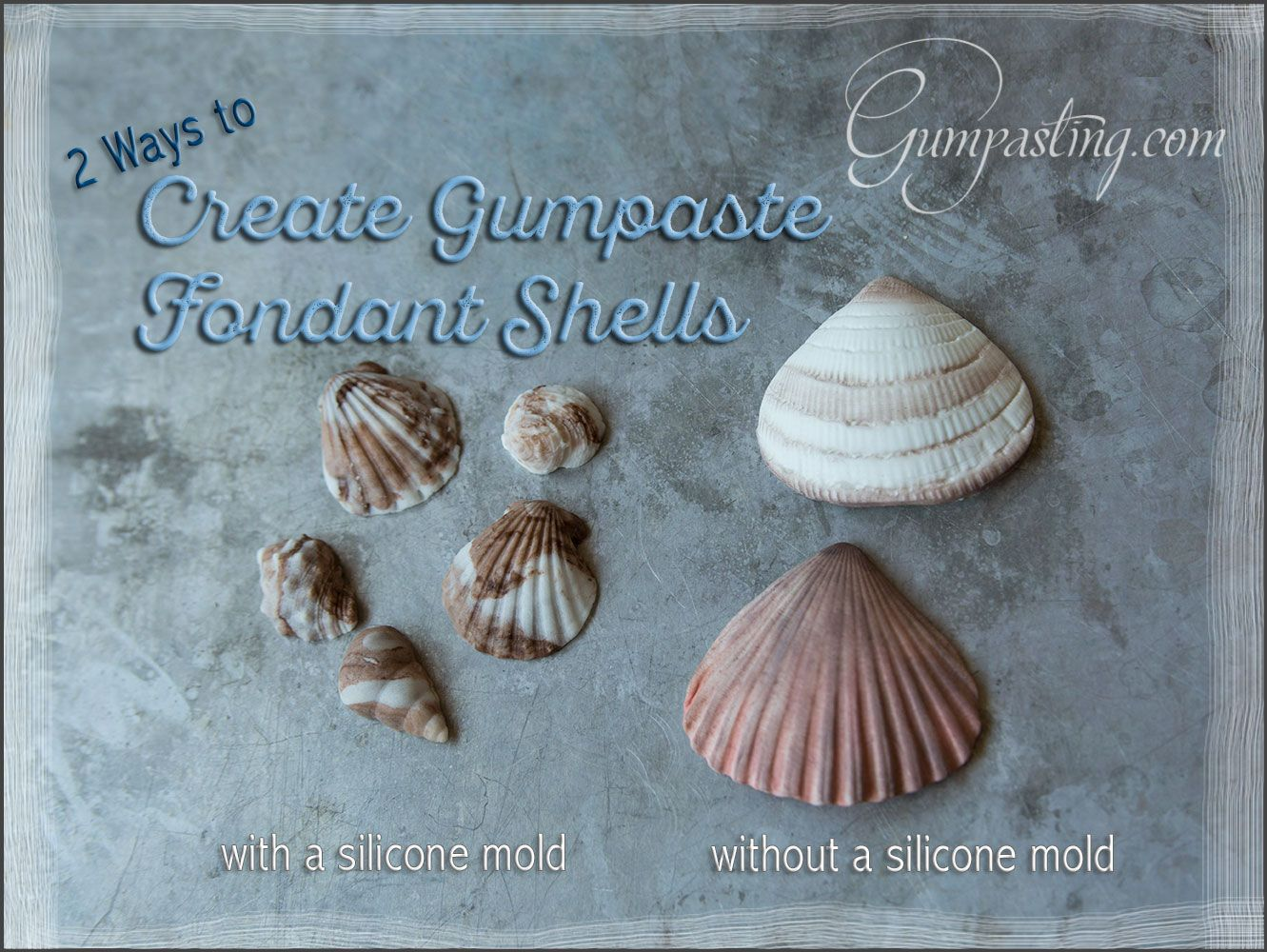 Creating Gumpaste Fondant Shells With Without Molds