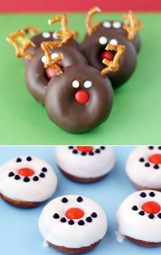 25 Fun Christmas Breakfast Ideas For Kids Easy Christmas Breakfast Christmas Snacks Christmas Donuts