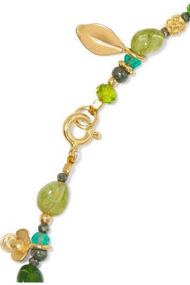 Katerina Makriyianni Gold Vermeil Multi-stone Necklace - Green ntS43u