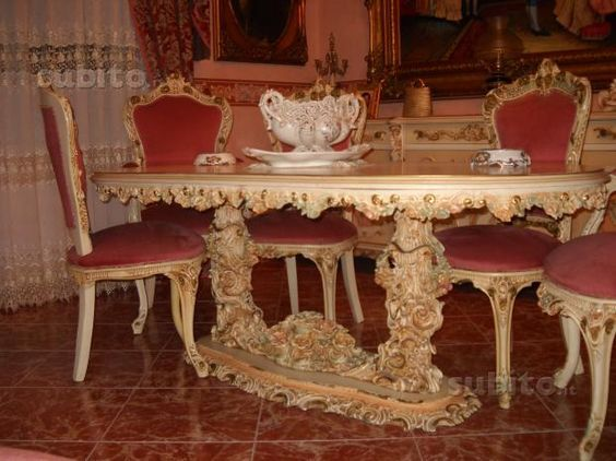 Sala da pranzo stile veneziano barocco credencia pinterest dining room interior design y - Sala da pranzo stile barocco ...