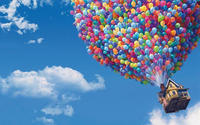 Up Disney Desktop Wallpaper Up Pixar Disney Wallpaper Balloon House