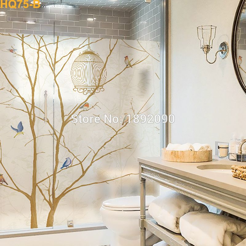 Custom Size Stained Static Cling Window Film Privacy Frosted Home Decor Vinyl Glass Stickers Window Film Designs Sliding Glass Door Window Window Film Privacy