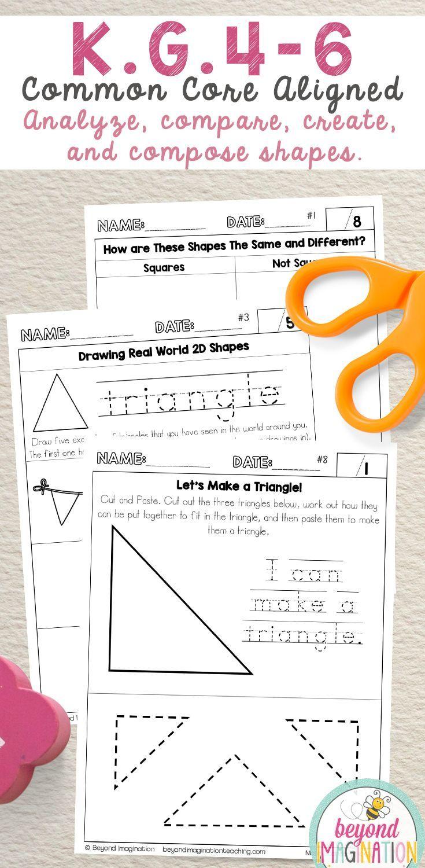 Kindergarten Common Core Math No Prep Worksheets K G 4