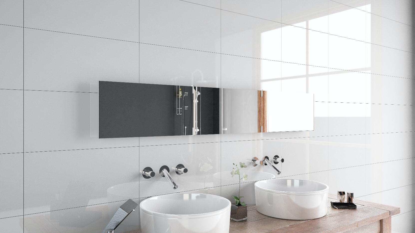 Artica blanco brillante, azulejo, baño, moderno, bowls ...