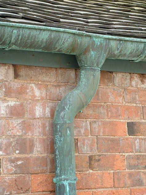 Aged Copper Gutters Copper Gutters Gutters Copper Metal Roof