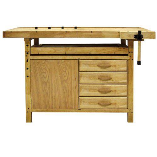 Banco da lavoro in legno 140x50x86