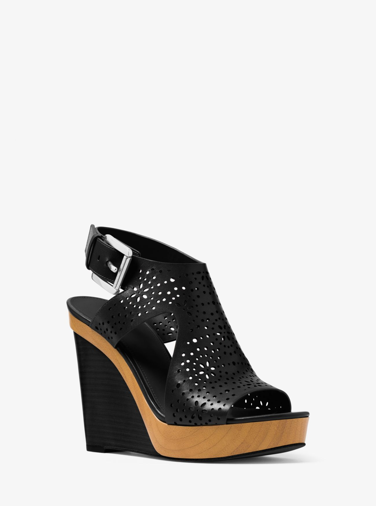 1a18f964e0c Josephine Perforated Leather Wedge. Josephine Perforated Leather Wedge  Michael Kors ...
