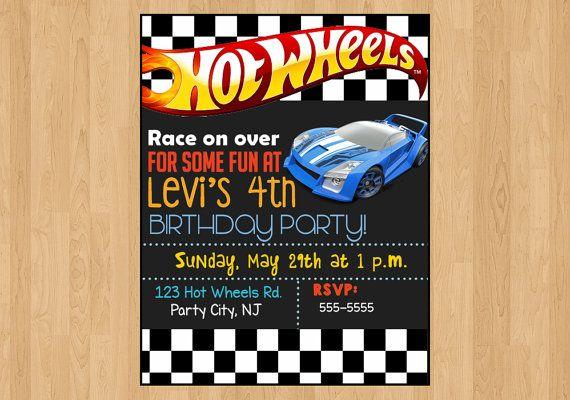 Digital File Hot Wheels Invitation Race By