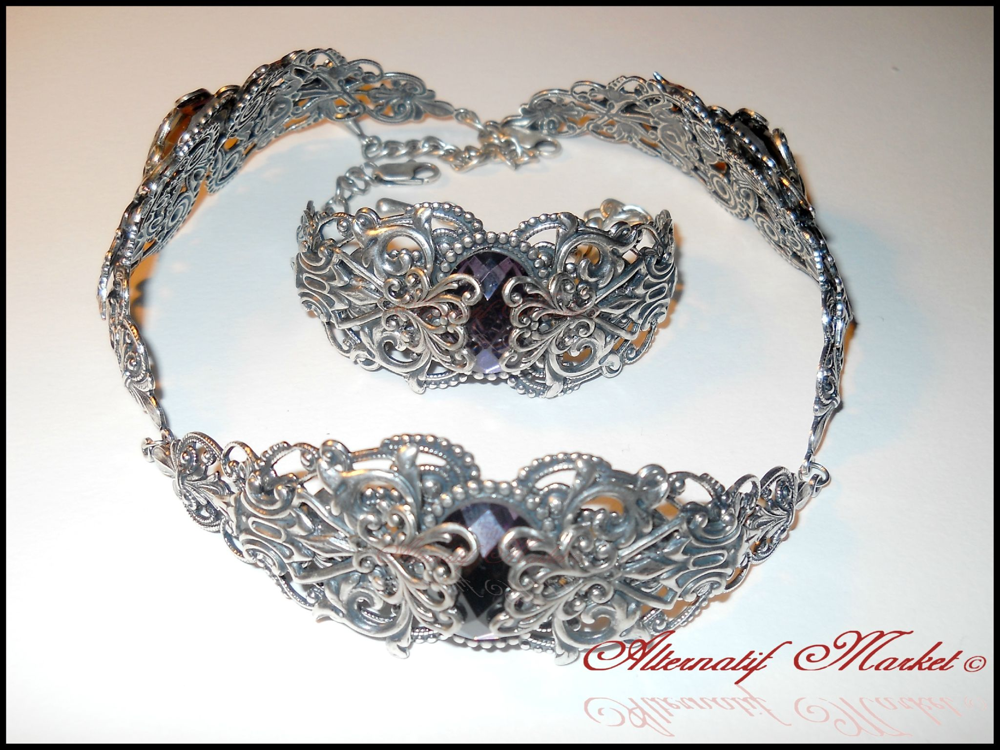 dark victorian wedding | ... Gothic Victorian Wedding Choker Jewellery Set - Alternatif Market
