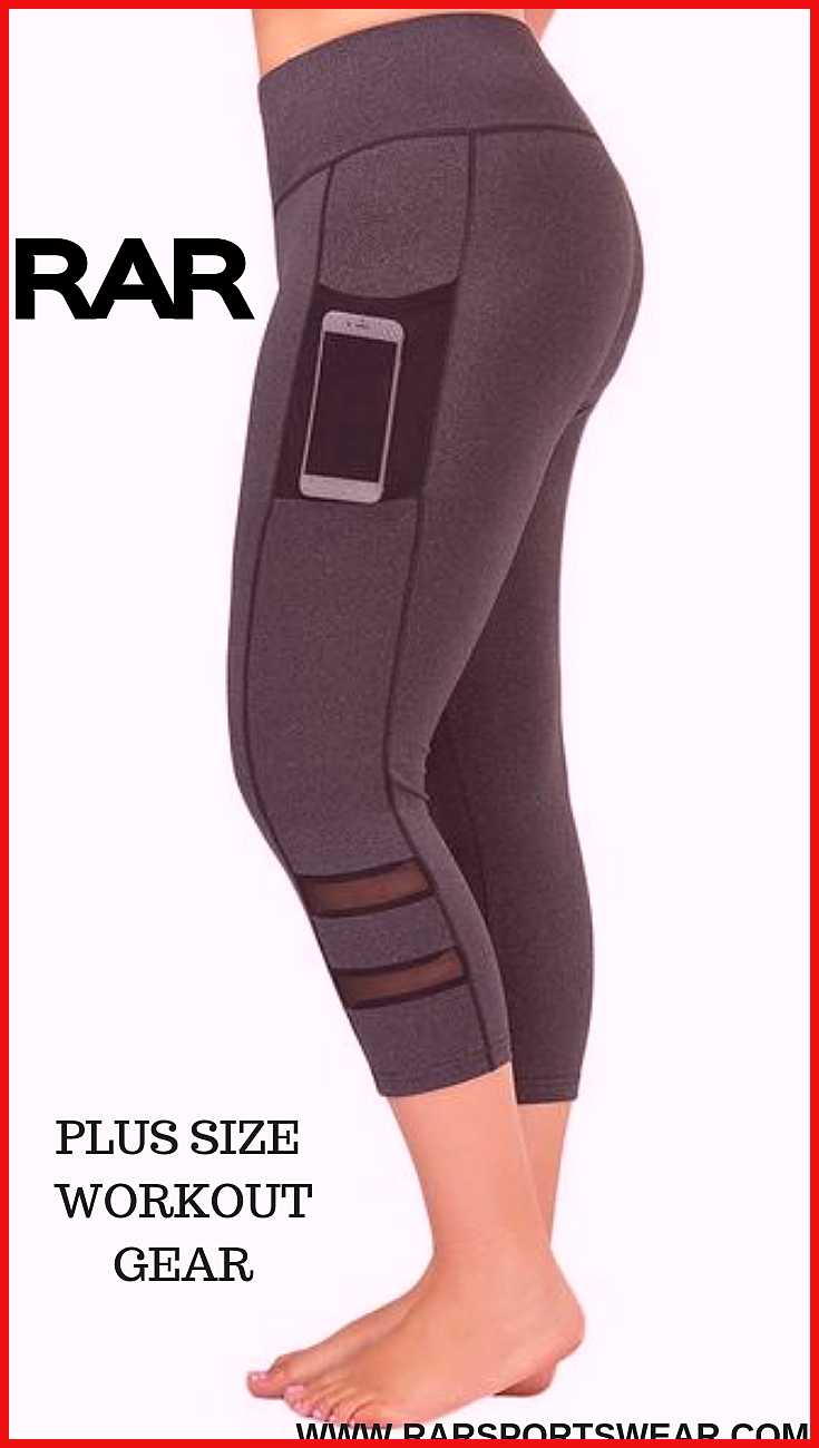 Plus Size Mesh Panel Fitness Capri Leggings Rar Sportswear Plus Size Fitness Leggings Sizes Up In 2020 Plus Size Workout Trendy Workout Outfits Womens Workout Outfits