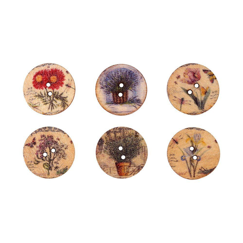 20mm mixed flower pattern 2 holes wood sewing buttons scrapbooking 20mm mixed flower pattern 2 holes wood sewing buttons scrapbooking pack of 100 jeuxipadfo Choice Image