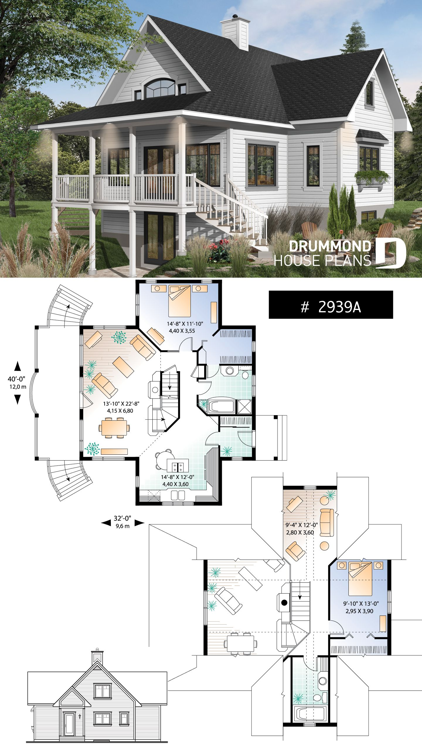 Spectacular Modern Farmhouse Plan With Walkout Basement 4 5 Bedroom Perfect Lakefront Home P Bungalow House Plans Craftsman House Plans House Plans Farmhouse