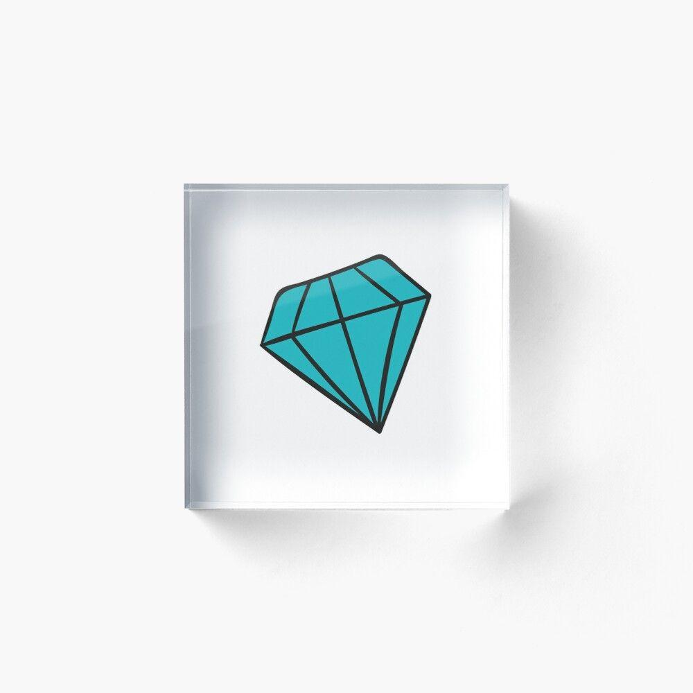 Funny Diamond Emoji Acrylic Block By Point Of View In 2020 Diamond Emoji Acrylic Emoji