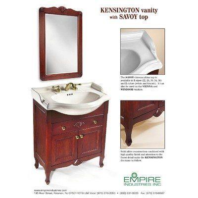 Make Photo Gallery Empire Industries Kensington Bathroom Vanity Mirror in Cinnamon KMC by Empire Industries