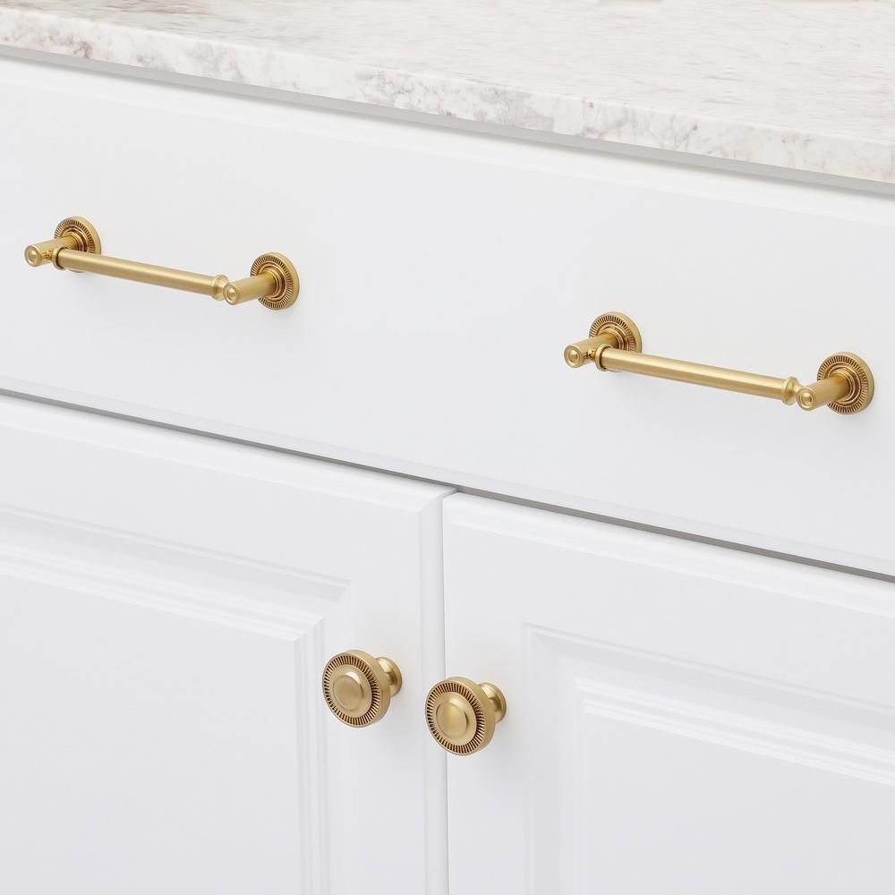 Sumner Street Home Hardware Minted 5 In Satin Br Cabinet Pull Rl060124 The Depot