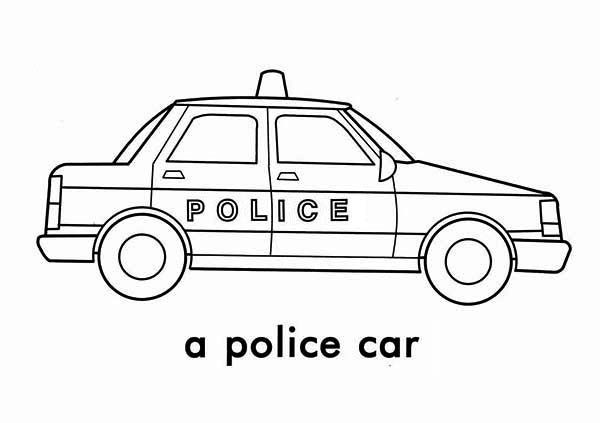 a police car picture coloring page