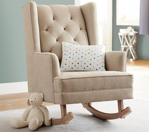 Pottery Barnu0027s Tufted Wingback Is A Nursery Chair That Rocks