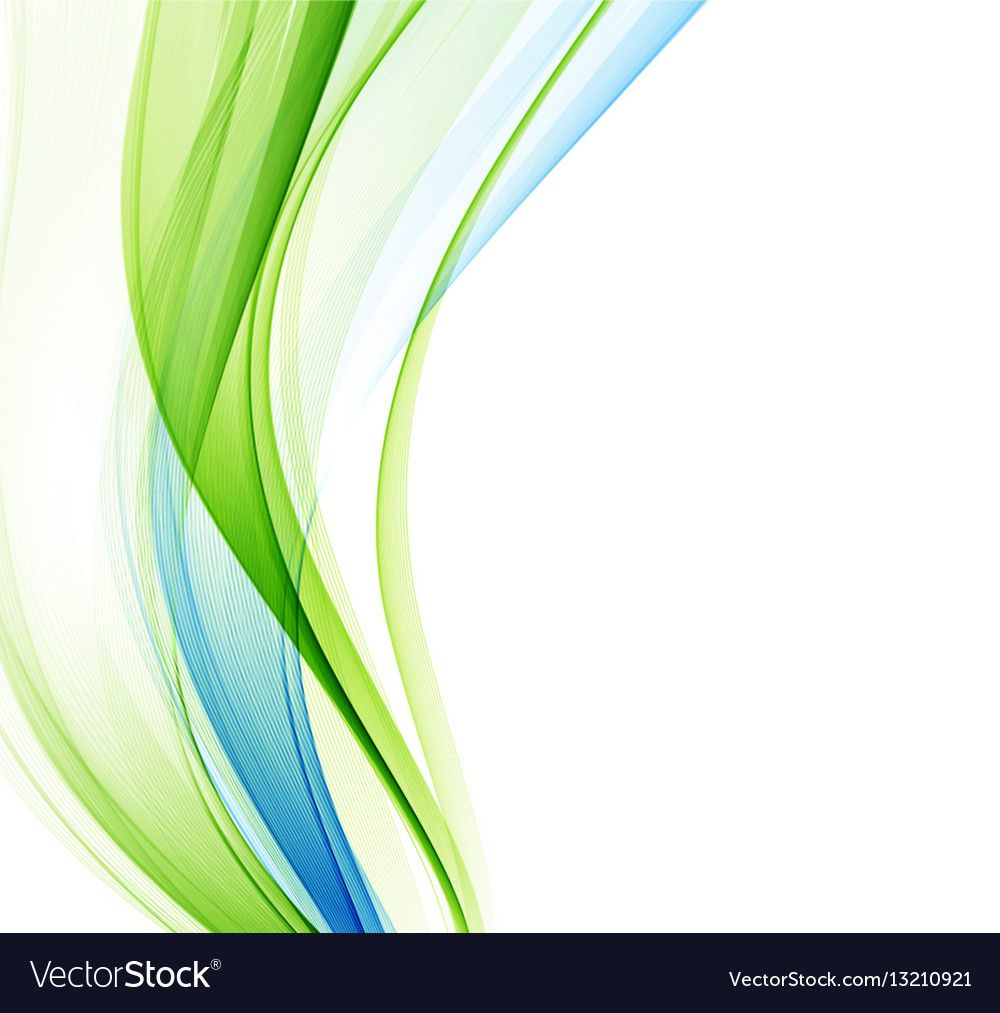 Abstract Background Blue Green Wavy Vector Image On Abstract